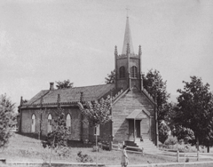 St. Andrew's Church before fire in Schroon Lake
