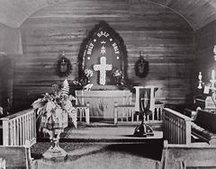 The first St. Andrew's Church, Schroon Lake